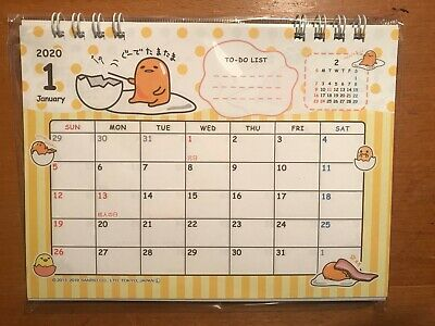 NEW Gudetama 2020 DESK CALENDAR -Jan-Dec- MADE IN JAPAN - Japanese Sanrio