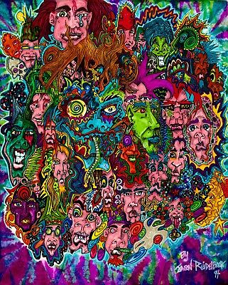 """Psychedelic Tye Dye IllustrationPOSTER LIMITED NUMBER PRINTED 24"""" x 30"""""""
