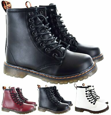 Kids Girls Boys Childrens Ankle Lace Up Zip Up Winter Grip Sole Trainer Boots Sz