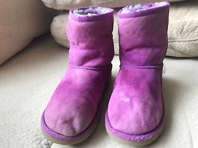 Ugg Australia Classic Short In Purple S/N 5251 Kid's Ugg Boots Size Uk 13
