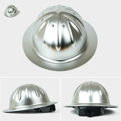 Aluminum Lightweight Full Brim Construction Hard Hat Safety Helmet Protection