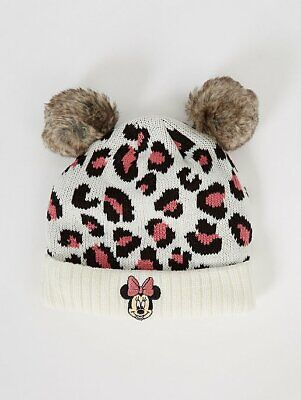 George Girls Kids Official Disney Minnie Mouse Double Bobble Hat