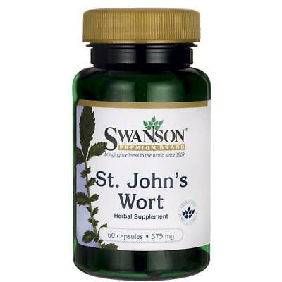 St John's Wort 375mg 60 Capsules Low Mood Aid Swanson
