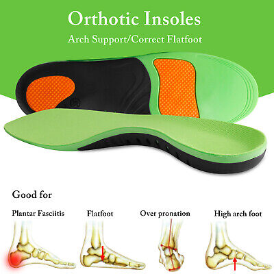 Orthotic Insoles Flat Foot High Arch Heel Support Plantar Feet Insert Pads Gel A