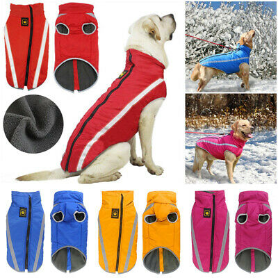 Winter Warm Dog Coat Clothes Waterproof Dog Padded Vest Pets Jacket Medium Large