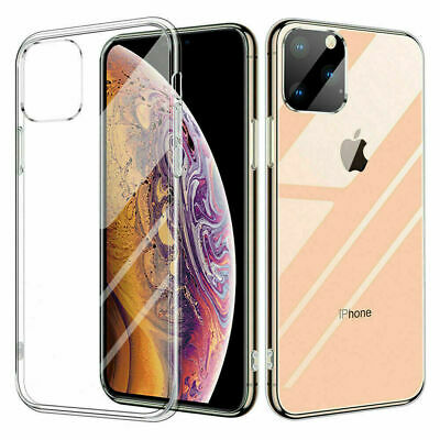For iPhone 11 Pro MAX XS XR 8 Ultra-thin Slim Silicone Soft Clear TPU Case Cover