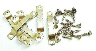 Picture Frame Sawtooth Hooks 45mm Brassed With Screws Canvas Hanging Artist