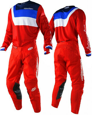 Troy Lee Designs TLD GP AIR Prisma Motocross Gear Red Red Adults