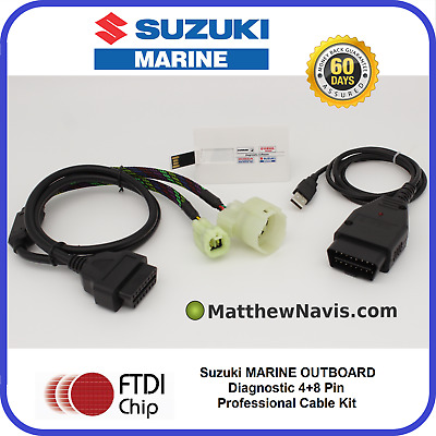 SUZUKI MARINE Outboard Professional Diagnostic CABLE KIT AND SOFTWARE SDS 8.30