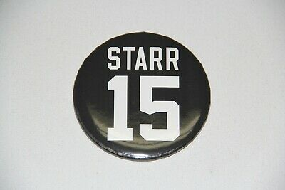 New Bart Starr 15 Pin Button Green Bay Packers NFL 2019 Lambeau Game Promo