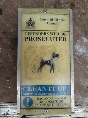Dog Fouling sign. road sign. traffic sign.street sign. Cotswold  sign.