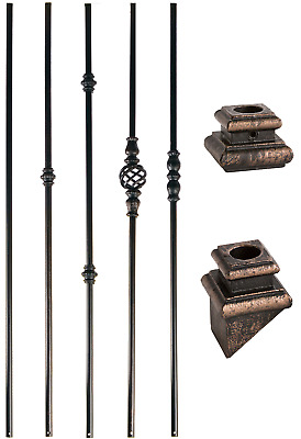 Oil Rubbed Bronze - 5/8 Round Iron Balusters for Stair Remodel - Stair Parts