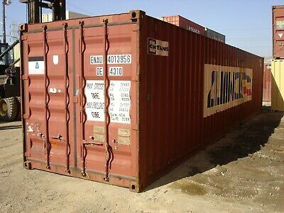 Used 40' High Cube Steel Storage Container Shipping Cargo Conex Seabox Houston