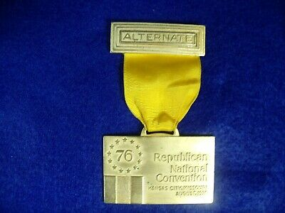 1976 Kansas City MO Republican National Convention Alternate Delegate Badge