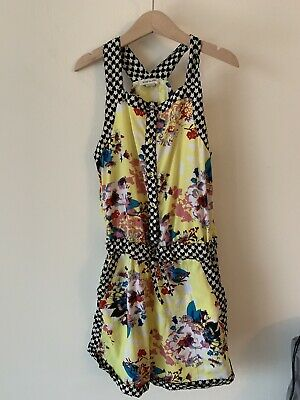Girls River Island Age 10 Playsuit Yellow And Black