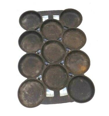Antique Cast Iron Muffin/Cornbread/Gem Pan, NUMBER ONE, Unmarked