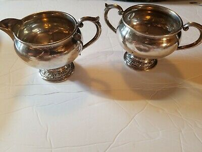 Vintage  ALVIN STERLING silver cream and suger bowls 139 grams