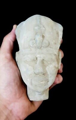 Rare large head Ancient Pharaoh face limestone sculpture Egyptian statue antique