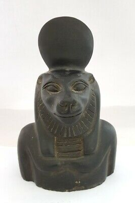 Very Rare Ancient Egyptian statue Sekhmet Figurine Ancient Sculpture bust basalt