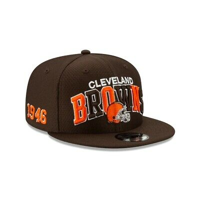 2019 Cleveland Browns New Era 9FIFTY NFL Home Sideline Snapback Hat Cap 1990s