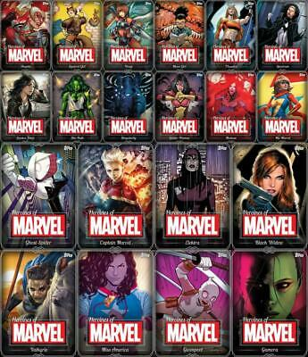 Topps Marvel Collect HEROINES OF MARVEL 2019 [20 CARD WHITE SET] Widow/Gamora+++