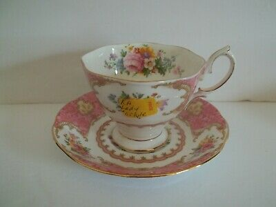 SALE Royal Albert Lady Carlyle Fine Bone China Cup and Saucer Set