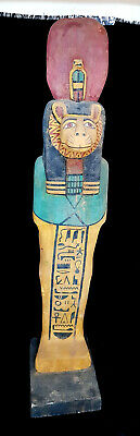 Rare very large Sekhmet Ancient Egyptian Egypt Antique wood hieroglyphic 120 cm