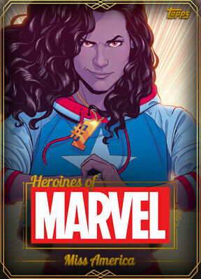 Topps Marvel Collect Miss America GOLD HEROINES OF MARVEL [DIGITAL CARD] 750cc