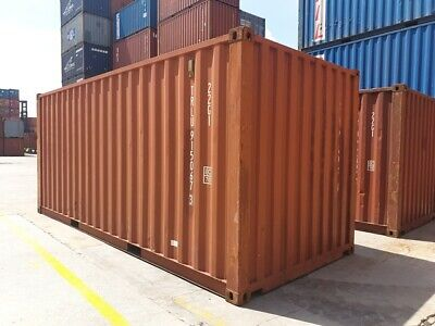 Used 20' Dry Van Steel Storage Container Shipping Cargo Conex Seabox Kansas City