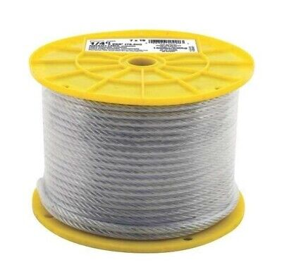 "Universal 2466470 7X19 Aircraft Cable, Galvanized, 3/16"" x 250'"