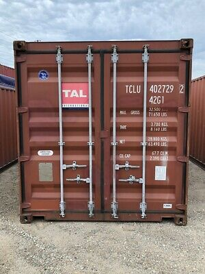 Used 40' Dry Van Steel Storage Container Shipping Cargo Conex Seabox Long Beach