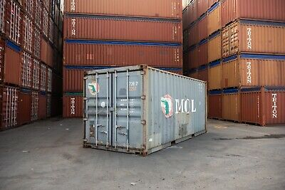 Used 20' Dry Van Steel Storage Container Shipping Cargo Conex Seabox Louisville