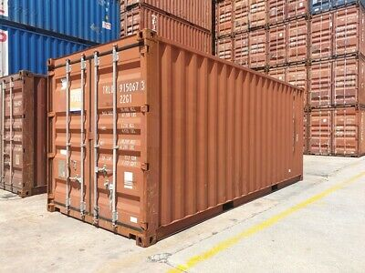Used 20' Dry Van Steel Storage Container Shipping Cargo Conex Seabox Miami