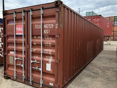 Used 40' High Cube Steel Storage Container Shipping Cargo Conex Seabox Miami