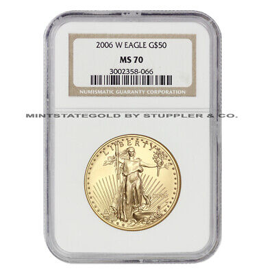 2006-W $50 Eagle NGC MS70 Burnished American Gold Bullion 1 oz 22KT coin