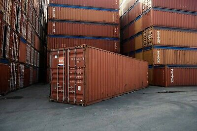 Used 40' High Cube Steel Storage Container Shipping Cargo Conex Seabox Minneapol