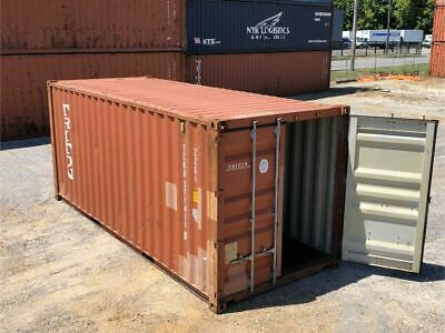 Used 20' Dry Van Steel Storage Container Shipping Cargo Conex Seabox Mobile