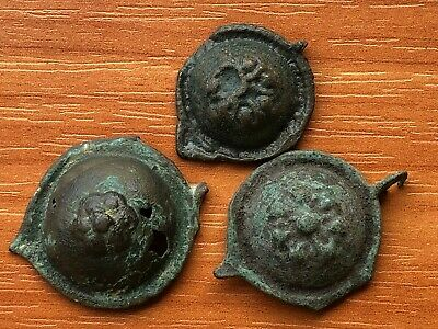 Lot of 3 Ancient Byzantine Medieval Bronze Buckle Circa 600-1000 AD Very Rare