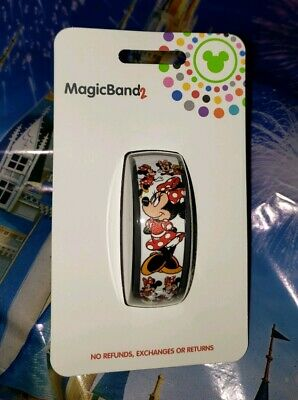 NEW DISNEY MINNIE MOUSE ALL OVER BOWS WHITE Magic Band Magicband Parks Ultimate