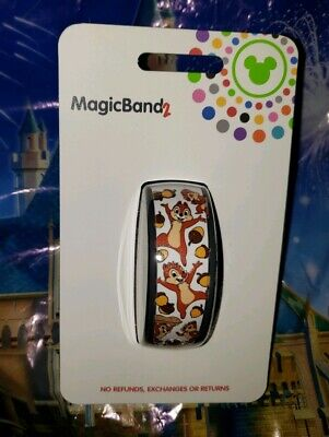 NEW DISNEY CHIP N' DALE ALL OVER WHITE Magic Band Magicband Parks Ultimate &