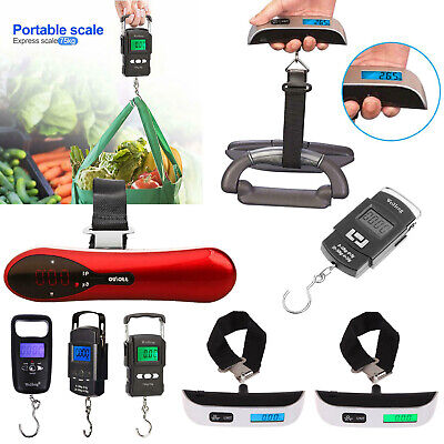 75kg 50kg Portable Travel LCD Digital Hanging Luggage Scale Electronic Weight 1a