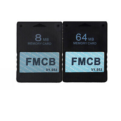 1.953 8MB Memory Card and 64MB Memory Card for Sony Playstation 2,FMCB Memo Z9T4