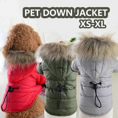 Waterproof Warm Dog Jacket Coat Pet Winter Clothes for Small Medium Large Dog US