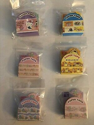 Sanrio Original Kawaii Washi Tapes Hello Kitty Little Twin Stars Pom Gudetama