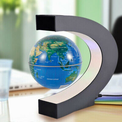 NEW Floating Spinning Globe With LED Lights Magnetic Maglev Levitation Rotation