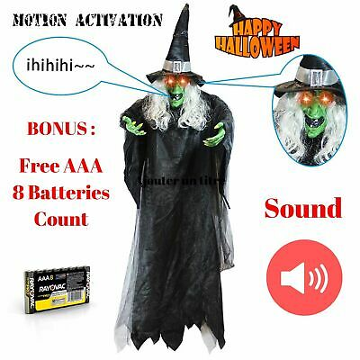 Halloween Decoration Hanging Animated Talking Life Size Witch Haunted House Prop