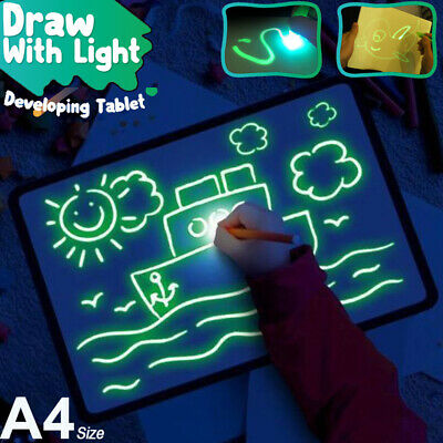 A4 Draw With Light Fun And Developing Toy Drawing Board Magic Draw Education US