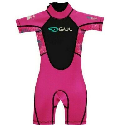 Gul Contour Wetsuit Infant Girls - Shortie Wetsuit - BRAND NEW - 3/4 Years