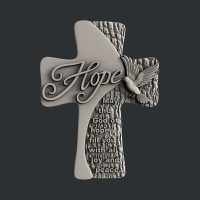 3d STL models for CNC, Artcam, Aspire,  cross Hope