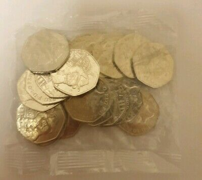 Bag of 20x Brand New Uncirculated 2019 Paddington St Paul's Cathedral 50p Coins